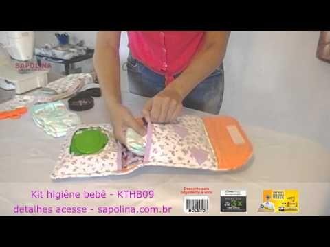 Passo à Passo Porta Kit Higiene do Bebê de Tecido. - YouTube