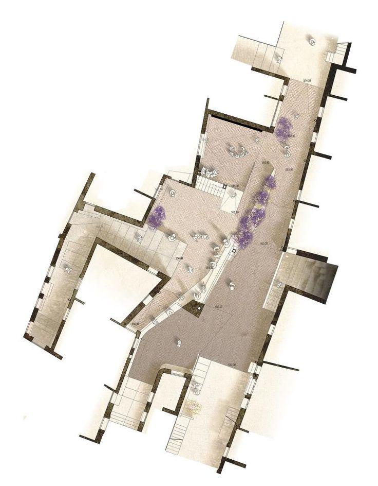 Piazza a Calitri (Italia)  Architects: Josep Ferrando + Marc Nadal  Collaborators: Adriano Occhibell