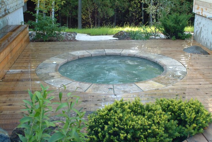 Inground Spa Hot Tub Whirlpool Gibsan 14 Jacuzzi Outdoor