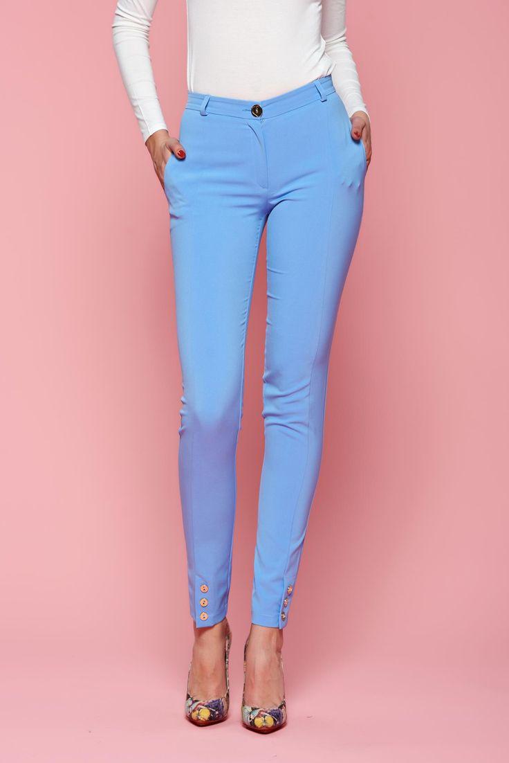 Comanda online, Pantaloni LaDonna Classic Style LightBlue. Articole masurate, calitate garantata!