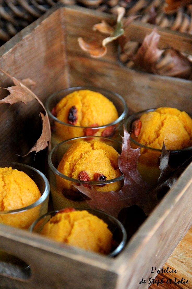 Muffins au potiron et baies de Goji