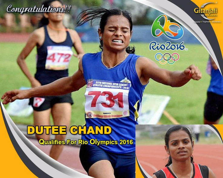 #DuteeChand has become the first Indian woman to qualify for Rio Olympics 2016. Proud moment! #rio #rioolympics #DuteeChand #rio2016 #olympics