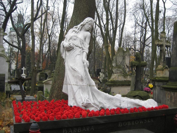 Angel Statue Powazski Cemetery Warsaw