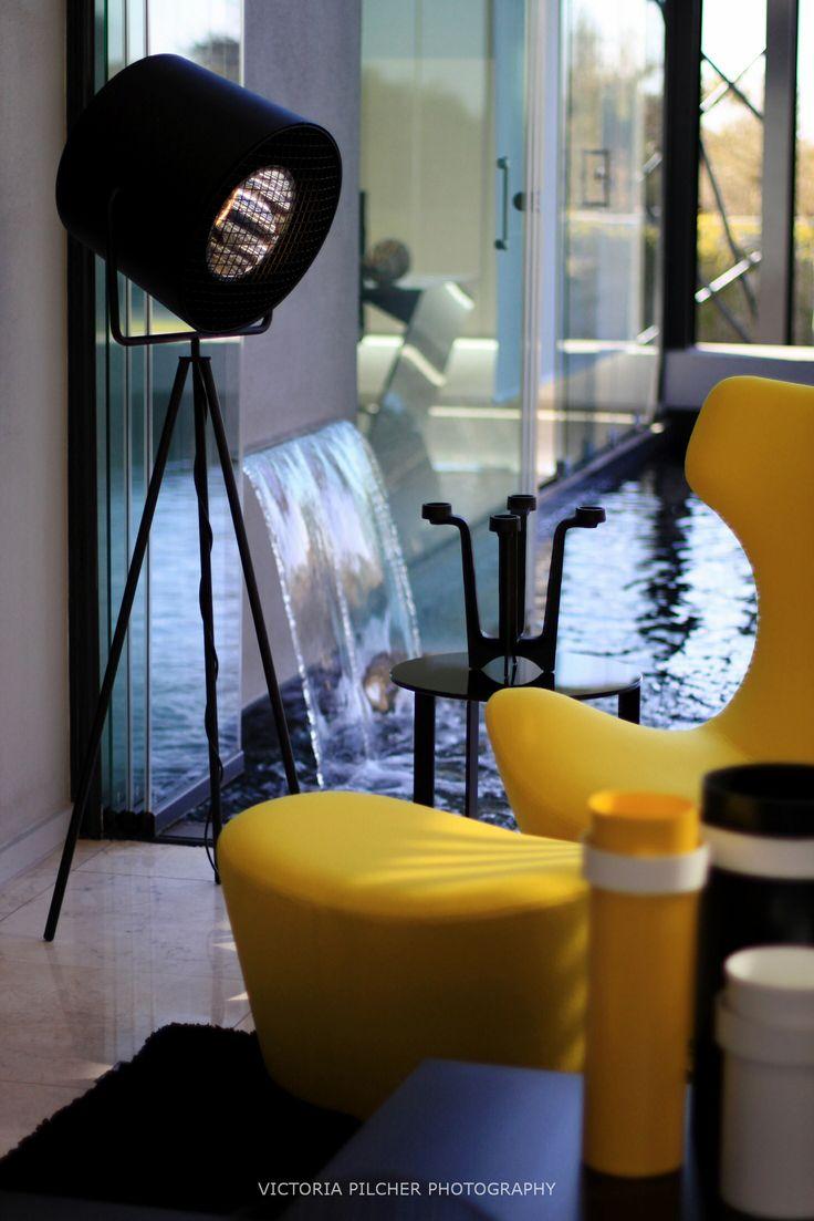 Yellow, black and blue.  House Ber - Nico van der Meulen Architects