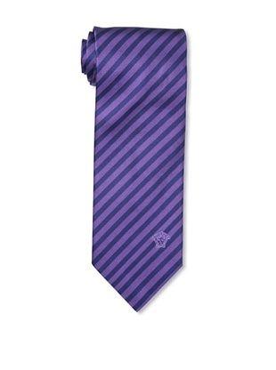 67% OFF Versace Men's Striped Tie, Purple/Navy