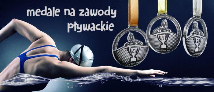 Medale sportowe na zawody pływackie