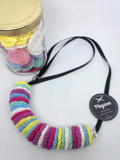 Rainbow Necklace (Crochet) +/- 80cm