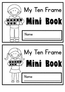 """My Ten Frame"" Mini Book and ""core Drawers"" organization of math resources..."