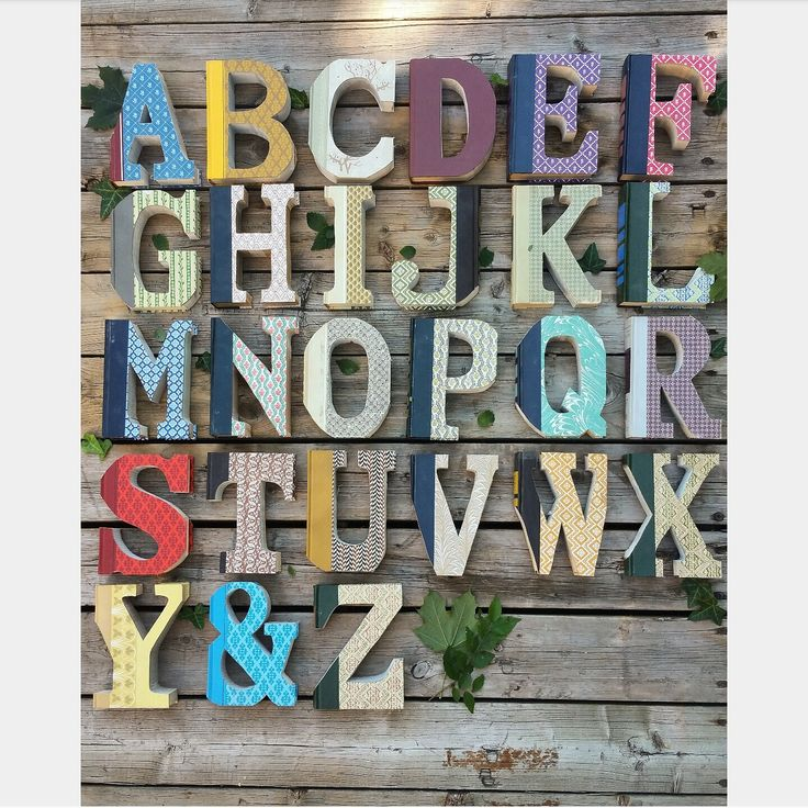 Vintage Reader's Digest upcycled book letters and ampersand by StudioWildflower on Etsy https://www.etsy.com/listing/479772653/vintage-readers-digest-upcycled-book