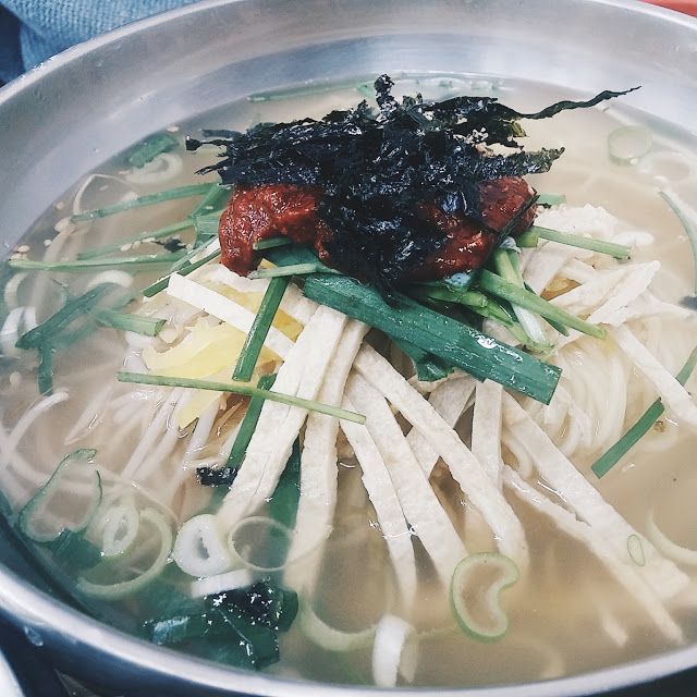 Myeolchi Guksu or Noodle with Anchovy Broth  #Busan #Food