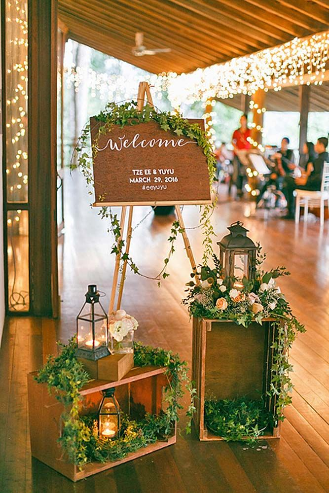 ideas for rustic wedding reception%0A    Greenery Wedding Decor Ideas  Budget Friendly Wedding Trend