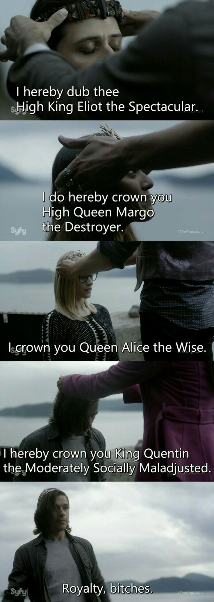 The Magicians...ok I'm fucking OBSESSED with this show!! I wanna fucking go to cool people Howarts and make magic booze :)