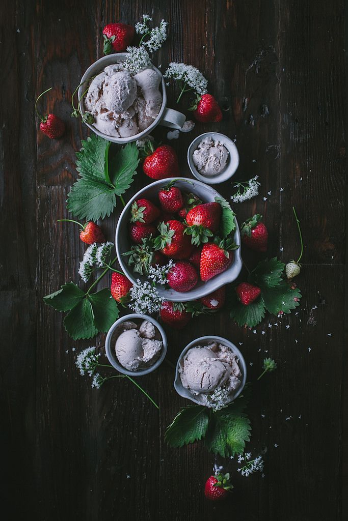 kendradaycrockett:   	Strawberry Vanilla Toasted Oak Ice Cream by Eva Kosmas Flores    kendradaycrockett
