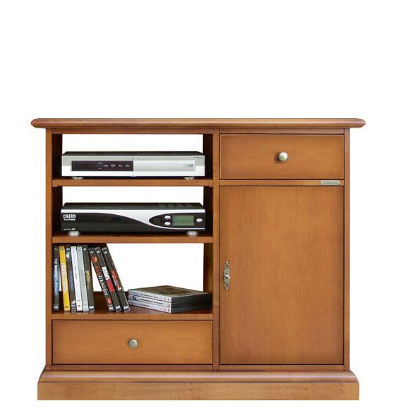 Classic tv cabinet Simply. 2 drawer tv cabinet in wood  made in Italy by ArteFerretto. http://www.italian-style.co.uk/wp/product/3056-apz-classic-tv-cabinet-simply/