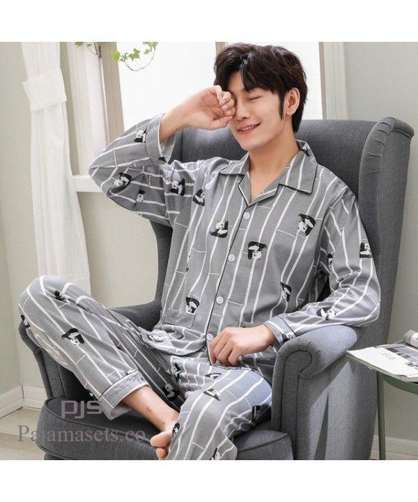 Cotton Pajama Sets For Men Cardigans