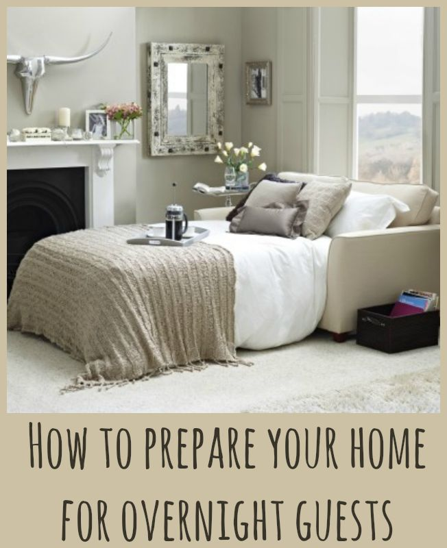 Creating a Temporary Space for Overnight Guests | Love Chic Living
