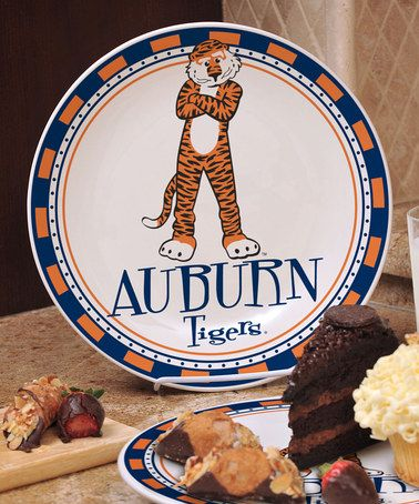 Another great find on #zulily! Auburn Tigers Game-Day Border Ceramic Plate by The Memory Company #zulilyfinds