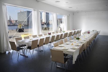 Lej Lysthuset påIslands Brygge (14.000 kr. for fredag til søndag incl. borde, stole og service)