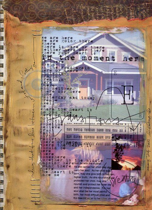 art-journal: Idea, Art Artist Journals, Art Journals Inspiration, Visual Art Journal Gluebook, Collage Journaling, Art Journaling