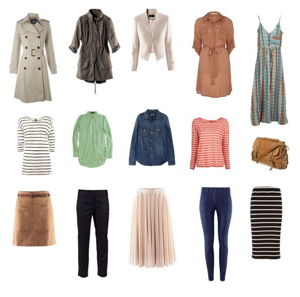 spring capsule wardrobe: Clothes Women S, Fashion, Essentials Wardrobe Capsules, Capsules Wardrobes, Femme Wardrobes Ideas, Wardrobe Capsules Clothes, Spring, Capsule Wardrobes, Wardrobe Travel Essentials