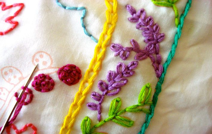 How to do the chain stitch free tutorial on craftsy
