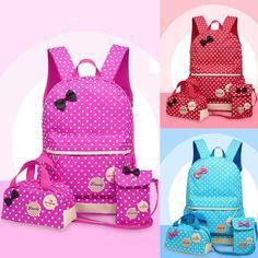 Cheap Backpack School Bag For Children Student Girls Women's Bookbag Wallet Bags