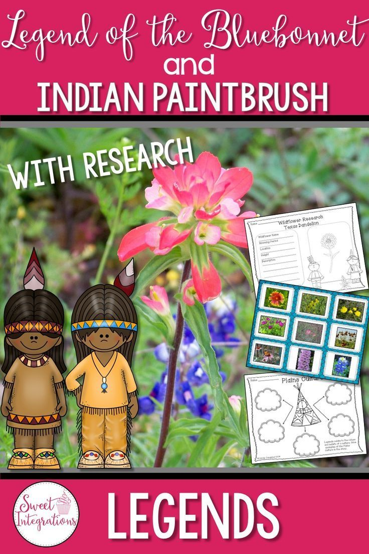 The Legend of the Bluebonnet and The Legend of the Indian Paintbrush are two beautiful books written by Tomie DePaola. The two legends about wildlfowers are perfect for elementary students' spring novel studies. This unit includes a study of legends, character traits, and story elements. I've also included activities about wildflowers. $