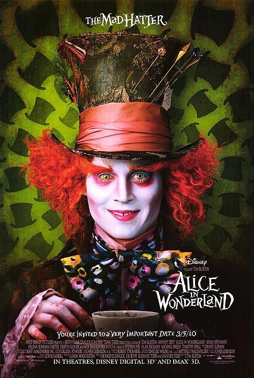 alice in wonderland. tim burton
