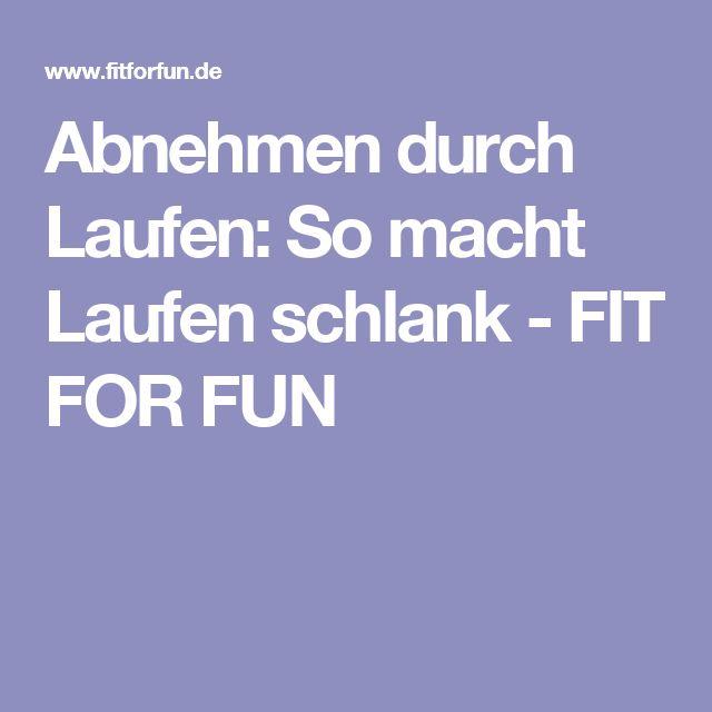 Abnehmen durch Laufen:  So macht Laufen schlank - FIT FOR FUN