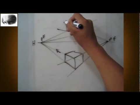 ▶ Dibujar a dos puntos de fuga - perspectiva - dibujo básico, tips,consejos, arte - YouTube