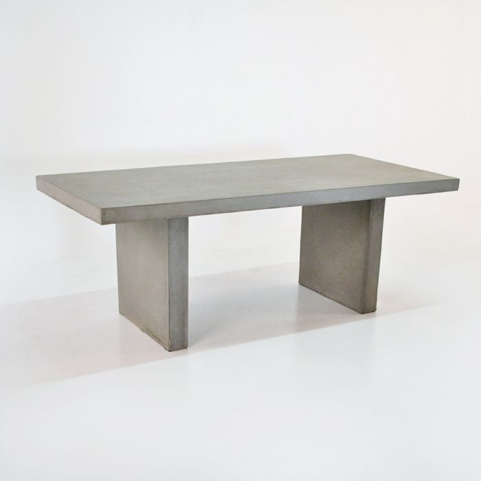 The Raw Concrete Rectangular Outdoor Dining Table is an elegant 200 x 90 cm and allows you to create the perfect dining room either in your house or outsid