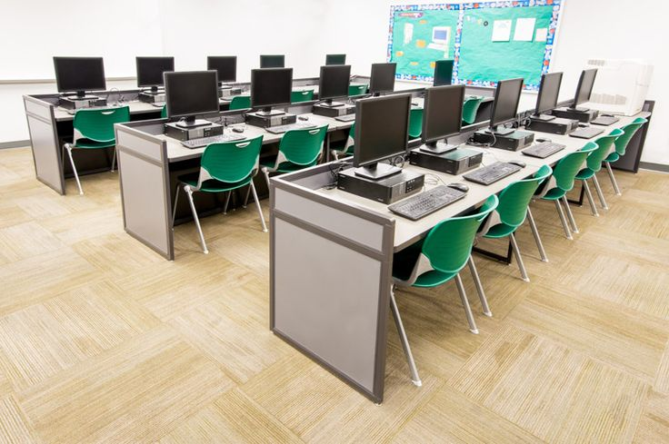 Best 25 computer lab design ideas on pinterest display for Computer lab chairs for schools