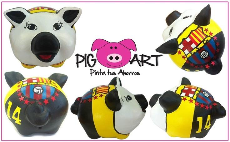 Pig Art también consciente a los ecuatorianos con su equipo favorito!! Acá les dejo la del Barcelona del Ecuador!!