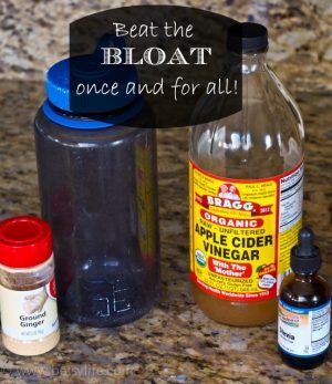 Beat the bloat by drinking this apple cider vinegar drink!