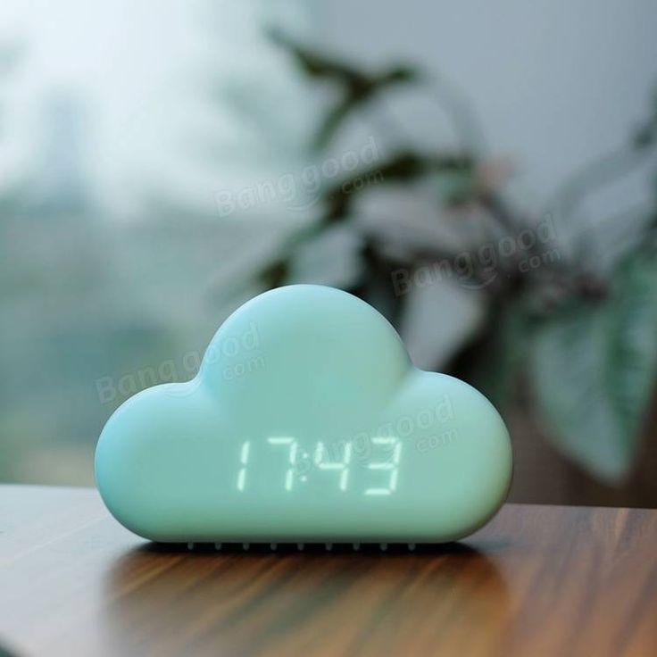 Creative Cloud Alarm Clock Voice-activated Calendar Snooze Small Wall Clock Home…