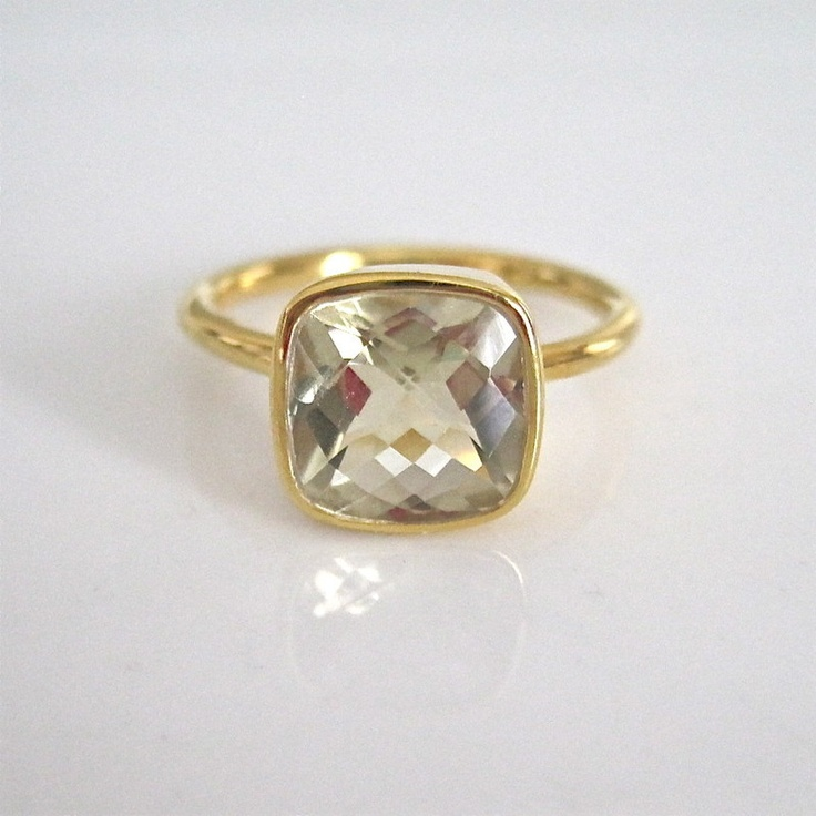 Gold Vermeil Faceted Ring-but only if it came in white gold