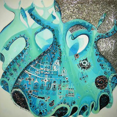 ♥ Whirling turquoises