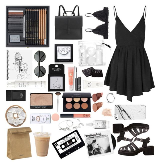 """""""Artsy"""" by mollzhav on Polyvore featuring Glamorous, Monki, Jil Sander, Danielle Foster, NARS Cosmetics, H&M, This Works, Topshop, Lancôme and Tom Ford"""