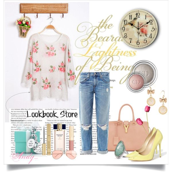 """Lookbook store: floral top!"" by andyts on Polyvore"