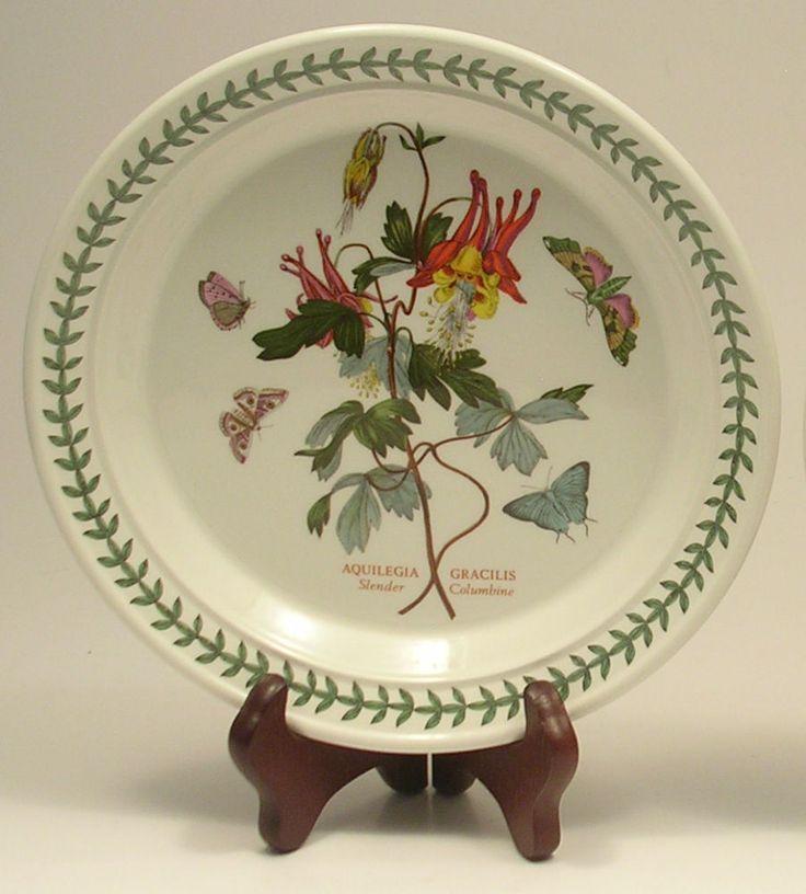 portmeirion botanic garden slender columbine salad plate pair 85 inch portmeirion