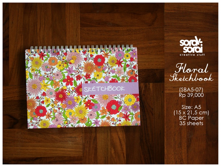 Floral Notebook by #soraksorai  Designed by @Niken Handamari