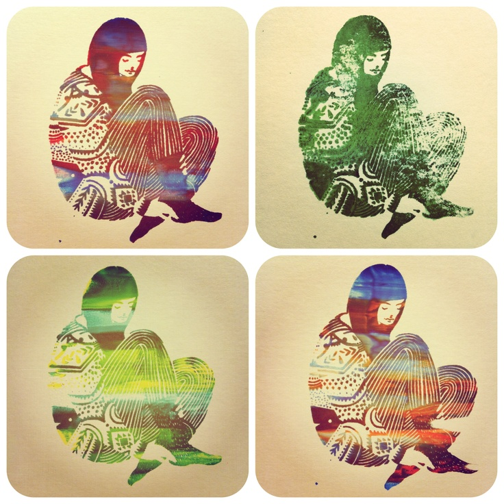 Silkscreen print by me:-) it's cover!