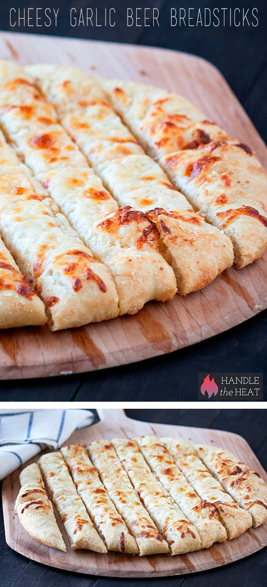 Cheesy Garlic Beer Breadsticks - Outrageously amazing!