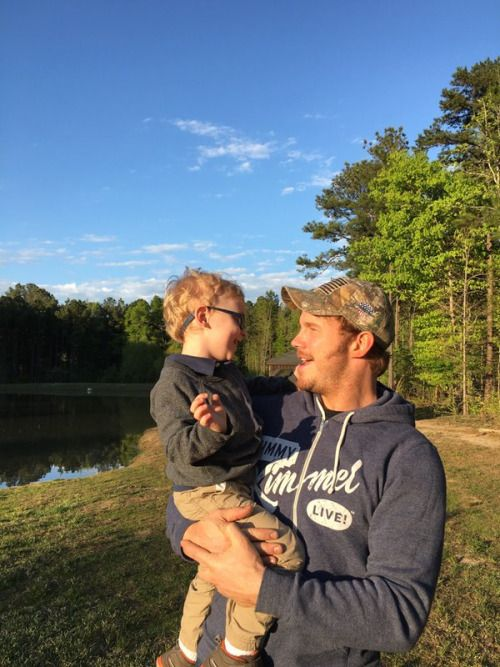 Chris Pratt and his son Jack