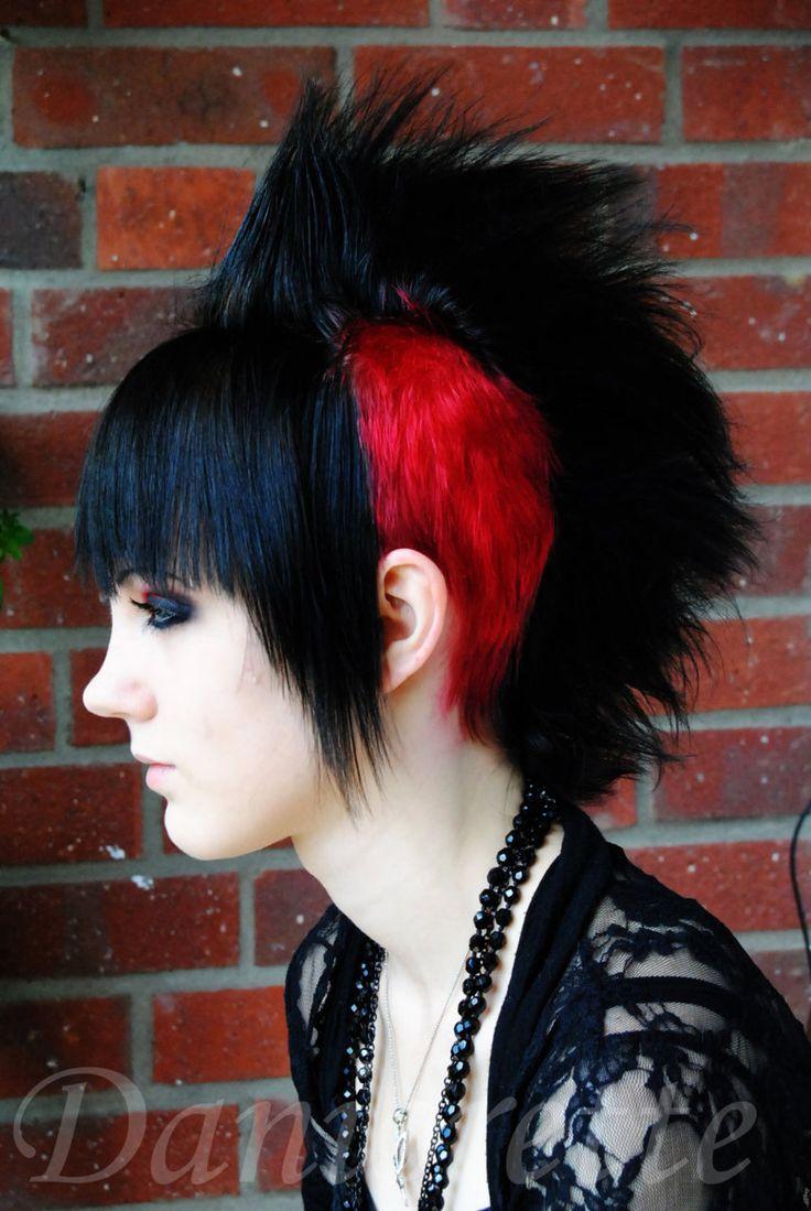 punk girl hair