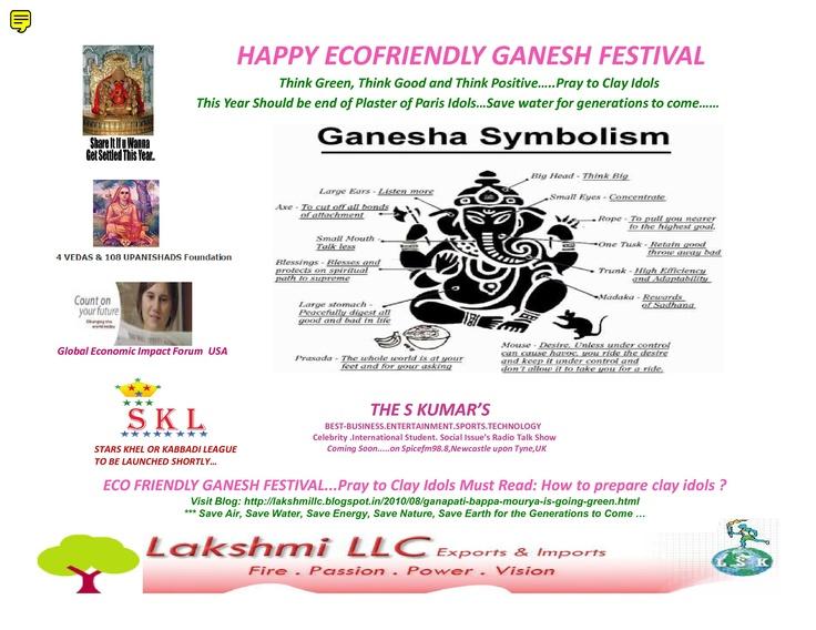 Go Green Ganesh Festival.....