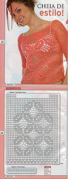 World crochet: Blouse 65