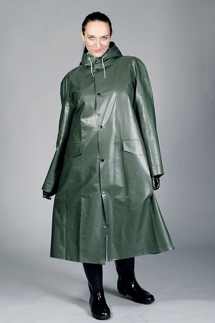 Kitty in a Green Rubber Raincoat