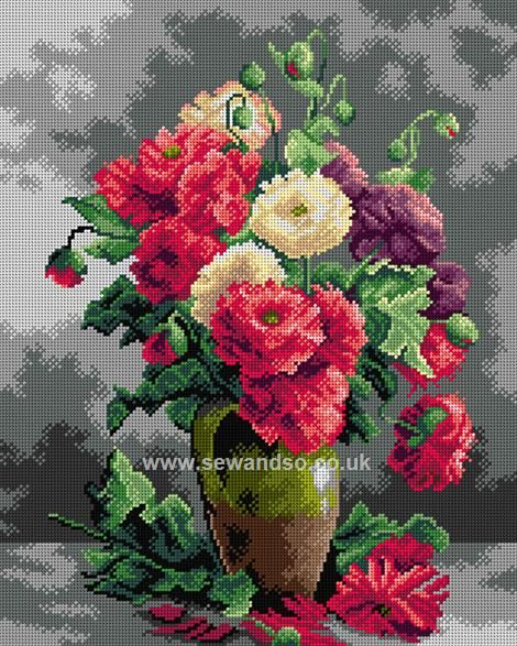 Shop online for Still Life Of Peonies Tapestry Canvas at sewandso.co.uk. Browse our great range of cross stitch and needlecraft products, in stock, with great prices and fast delivery.