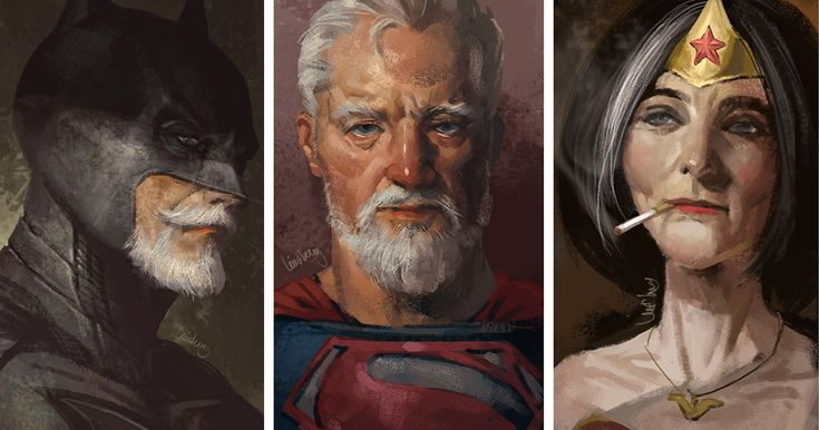Old Superheroes: Artist Shows How Superheroes Will Look When They Retire   Bored Panda